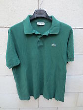 Polo LACOSTE Devanlay vert made in France 6 manches courtes