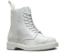 Doc Martens Pascal WHITE+WHITE PAINTER Ankle Boot Leather Womens 11 Mens 10 NEW