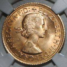 1967 Great Britain Gold Sovereign Elizabeth NGC MS63 Uncirculated BU Coin UK