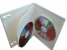 100 SLIM 14mm MULTI 3 TRIPLE DVD CASE BOXES WHITE PSD53