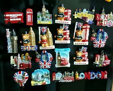 3D I LOVE LONDON ENGLAND UK FRIDGE MAGNET SOUVENIR CERAMIC FRIDGE MANGET  6pcs