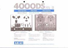 AKAI manuale di istruzioni user manual per 4000 DS MK II
