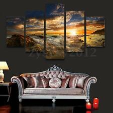 No Framed BEAUTIFUL Sky Sun MODERN ABSTRACT WALL ART OIL PAINTING ON CANVAS