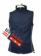 US Basic Cromwell Mens Soft Shell Body Warmer Gilet Navy Reflective Strips XL