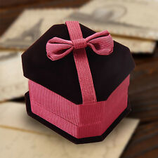 Velvet Flocking Octagonal High-grade Gift Box Packaging Case for Ring Earrings