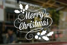 MERRY CHRISTMAS CUSTOMERS WINDOW SANTA ART STICKER XMAS VINYL SHOP SIGN RETAIL 2