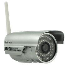 Sricam IP Caméra Cam 0.3MP P2P Sans Fil Wifi IR Nocturne 20M Étanche Extérieur