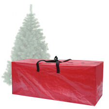 Large Heavy Duty Christmas Tree Storage Bag For Clean Up Holiday Red Up to 9ft