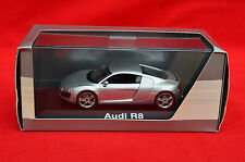 IMMACULATE SHUCO DEALER EDITION 1/43 AUDI R8 IN SILVER! DISPLAY CASE/BOX