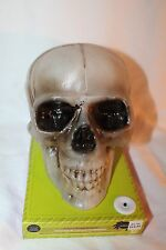 NEW GEMMY Talking Skull Halloween light up Sound/Motion Activated Prop spooky!