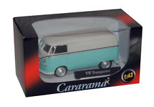 Cararama - VW TRANSPORTER in Blue - 1:43 Die-Cast Volkswagen T1 Samba Van Model