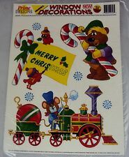 Christmas Window Cling Decorations ~ 10pc Set w/Six Re-usable Designs