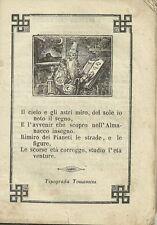 Libro Illustrato 1863 Il Filosofo Errante Almanacco per Anno 1863 Tip. Tomasini
