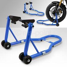 Motorrad Montageständer Vorderrad Motorradständer vorn Motorradheber Blau