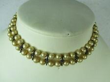 sehr alte Perlenkette Kunstperlen, antike Machart und Optik  38cm china ca 1955