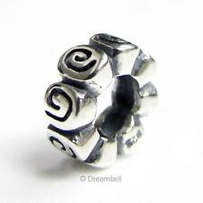 Valentines Sterling Silver Lot Flower Rose European Spacer Bead Charm 925