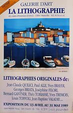 QUILICI*AFFICHE*EXPO*LITHOGRAPHIE*MARSEILLE*1989*RARE*COLLECTOR