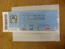 12/12/2009 BIGLIETTO: Coventry City V Peterborough uniti (SKY creazioni Lounge, c