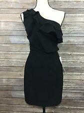 Ruby Rox Black One Shoulder Ruffled Tier Prom Cocktail Party Dress Size 5 New