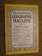 National Geographic- SAFARI THROUGH CHANGING AFRICA - AUGUST 1953