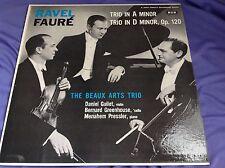 RAre Violin CEllo LP : The Beaux Arts Trio ~ Trio in A Minor & D Minor Op. 120