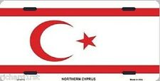 "Aluminum National Flag Northern Cyprus ""License Plate"" NEW"