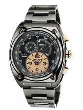 LIMITED EDITION SEIKO SNL071 Kinetic Chronograph Black Ion Stainless Rose Watch