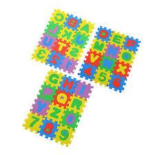 Interlocking EVA Schaum Alphabet + Zahlen Boden Weich Baby Matte Puzzle CY
