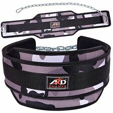 Neoperene Weight Lifting Dipping Belt Exercise Belt Fitness White Camo