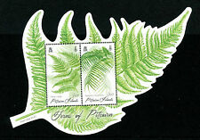 Pitcairn Islands 2016 MNH Ferns of Pitcairn 2v M/S Plants Flora Stamps