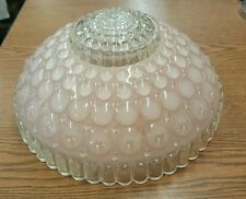 """Vintage Pink Round Bubble Ceiling Light Shade 10"""" Art Deco"""