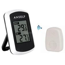 LCD Digital Wireless Indoor Outdoor Thermometer Ambient Weather Tester Set Q5F5
