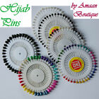 Pearl Hijab Scarf Pins Safety Multicolor Black Wheel Tailor Sewing Snag-Free Lot