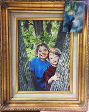 """Family Heirloom"" - Hand Painted Photograph NEWLY CUSTOM FRAMED Giclee on Canvas"