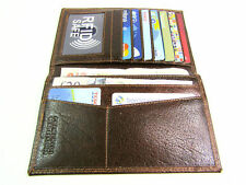 Mens RFID Blocking Protection Premium Document Brown Leather Wallet Credit Card