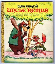 Walt Disney's UNCLE REMUS ~ 42-page Little Golden Book D6, tar baby, paper spine