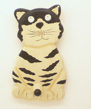 New Wooden Black & White Wood Cat Coat Hook Door Hanger Shabby Chic Gift Idea