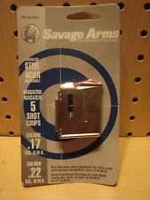 Savage 93 Series Stainless Magazine 5 Round 17 HMR / 22 WMR #90009 NEW