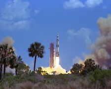 New 8x10 NASA Photo: Launch of Lunar Mission Apollo 16, Saturn V Rocket