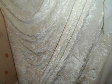 5 MTR  QUALITY CREAM  ICE CRUSHED VELVET  FABRIC..58 INCHES WIDE