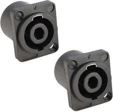 2 x Speaker Einbaukupplung, SPKN 4-polig, Speaker Einbaukupplungen NEU