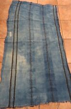 "Vintage African,Dogon, Mali Indigo Dyed Fabric/Hand Woven Cotton Strips/32""x60"""