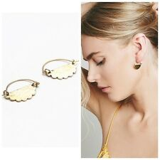 Free People Lena Bernard Amalfi Mini Hoop Earrings NWT Goldtone Bronze
