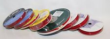 LOT RED Ribbon 8 Spools CRAFT & GIFT MISC - EXCELLENT