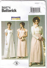 Regency Empire Wedding Dress Gown Jane Austen Costume Pattern Size 6 8 10 12 14