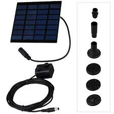 Solar Water Panel Power Fountain Pumps Kit Pool Garden Pond Submersible Watering