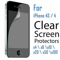 4x 6x 10x 20x Lot Clear Screen Protector Cover Film for Apple iPhone 4 4S 4G 4th
