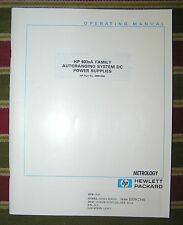 HP Operating Manual 5959-3342 Family Autorange Sys DC Power Supply Model 603xA