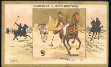 Chromo Guérin Boutron Champenois Ombre chinoise Polo cheval horse sport