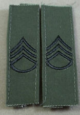 US Army Subdued Cloth Rank Insignia Staff Sergeant / E-6 / Pair
